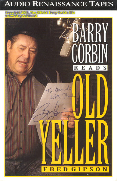 Old Yeller Book Cover : The official barry corbin site audio books old yeller